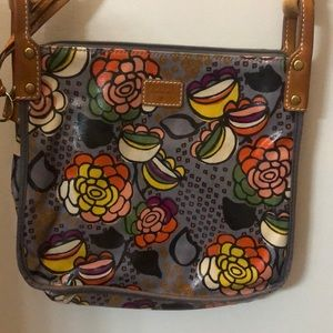 Fossil floral coated canvas crossbody bag